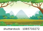 illustration of forest with a... | Shutterstock . vector #1085733272