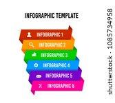 ribbon infographic design... | Shutterstock .eps vector #1085734958