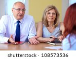 job interview  two senior... | Shutterstock . vector #108573536