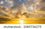 sunset sky with sun light... | Shutterstock . vector #1085736275