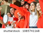 football supporter fans...   Shutterstock . vector #1085741168
