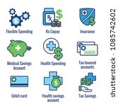 medical tax savings w health... | Shutterstock .eps vector #1085742602