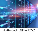 3d illustration of server... | Shutterstock . vector #1085748272