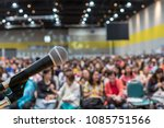 microphone over the abstract... | Shutterstock . vector #1085751566