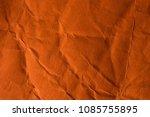 orange crinkle paper background. | Shutterstock . vector #1085755895