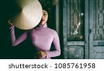 vietnamese lady with ao dai...   Shutterstock . vector #1085761958