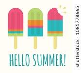 summer popsicle composition  ... | Shutterstock .eps vector #1085778665