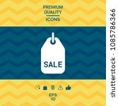 sale tag symbol | Shutterstock .eps vector #1085786366