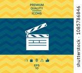 clapperboard icon symbol | Shutterstock .eps vector #1085786846