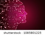 big data and artificial... | Shutterstock .eps vector #1085801225