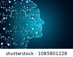 big data and artificial... | Shutterstock .eps vector #1085801228