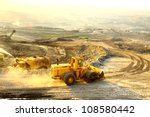 big yellow mining truck at... | Shutterstock . vector #108580442