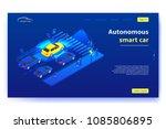 autonomous smart car concept... | Shutterstock .eps vector #1085806895