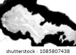 black and white grunge texture. ... | Shutterstock .eps vector #1085807438