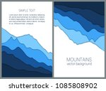 blue mountains backgrounds in... | Shutterstock .eps vector #1085808902