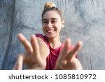 waist up emotions portrait of... | Shutterstock . vector #1085810972
