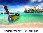 concept travel tropical beach ...   Shutterstock . vector #108581135