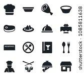 set of vector isolated black... | Shutterstock .eps vector #1085811638