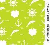 seamless pattern with dolphins  ... | Shutterstock .eps vector #1085819462