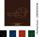 illustration of austria | Shutterstock .eps vector #1085820938