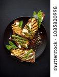 vegetarian sandwich. wholemeal... | Shutterstock . vector #1085820998
