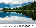 landscape reflection of lake... | Shutterstock . vector #1085824016