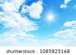 white clouds in blue sky | Shutterstock . vector #1085825168