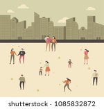 people who wear masks and do... | Shutterstock .eps vector #1085832872