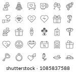 thin line icon set   jesus... | Shutterstock .eps vector #1085837588