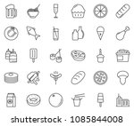 thin line icon set   coffee... | Shutterstock .eps vector #1085844008