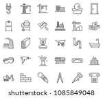 thin line icon set  ... | Shutterstock .eps vector #1085849048