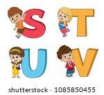 children learn the english... | Shutterstock .eps vector #1085850455