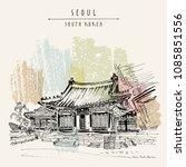 seoul  south korea  asia....   Shutterstock .eps vector #1085851556