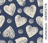 simple seamless pattern with... | Shutterstock .eps vector #1085851778