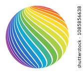 abstract full color rainbow... | Shutterstock .eps vector #1085856638