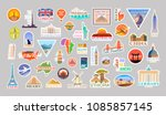 big set of vector travelling... | Shutterstock .eps vector #1085857145