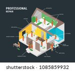 home repair infographic concept ... | Shutterstock .eps vector #1085859932