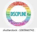 discipline word cloud collage ... | Shutterstock . vector #1085860742