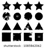 grunge post stamps collection ...   Shutterstock .eps vector #1085862062