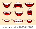 cartoon talking mouth and lips...   Shutterstock .eps vector #1085862188