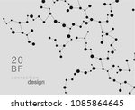 abstract connecting dots and... | Shutterstock .eps vector #1085864645