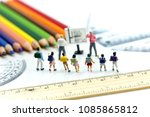miniature people   teacher and  ...   Shutterstock . vector #1085865812