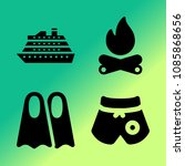 vector icon set about travel... | Shutterstock .eps vector #1085868656