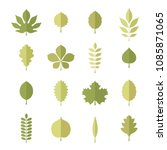 vector green shapes of tree...   Shutterstock .eps vector #1085871065