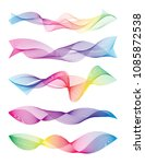 wave of the many colored lines. ... | Shutterstock .eps vector #1085872538
