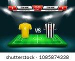 sport scoreboard with team 1 vs ... | Shutterstock .eps vector #1085874338