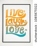 minimal hand lettering poster... | Shutterstock . vector #1085875322