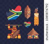 travel to south africa icons... | Shutterstock .eps vector #1085876792