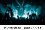 happy people dance in nightclub ... | Shutterstock . vector #1085877755