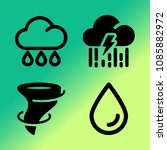 vector icon set about weather... | Shutterstock .eps vector #1085882972